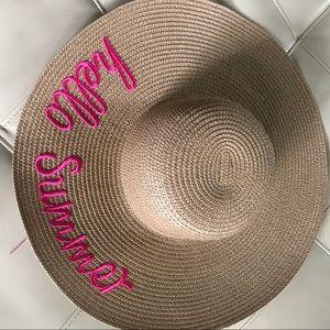 Hello Summer beach hat 🎩